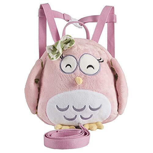 SANXDI Rucksack für Kleinkinder, Eulenmotiv, niedliches Tiermotiv, 3D-Design, Rucksack für Jungen und Mädchen, Vorschulrucksack mit Zügeln