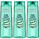 Garnier Hair Care Fructis Pure Clean Shampoo, 12.5 Fl Oz, 3 Count