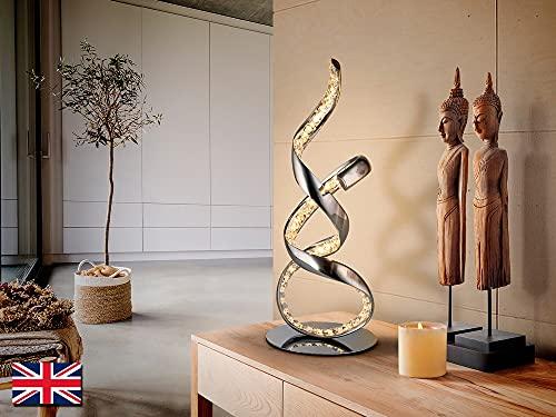 Schuller Sinua - Lámparas de pie Lámparas LED integradas, Cristal, Cromado