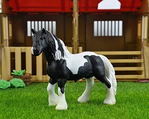 Originele echte paard Fjord Arabische IJslandse Tennessee Hannoveraanse figuur diermodel kinderen speelgoed collectible beeldjes, Ierse Tinker paard