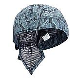Gorra de soldadura Azul Moda Retardante de llama Cómodo Sombrero seguro Lavable Transpirable Aislamiento térmico Casco elástico Protección para la cabeza Bufanda