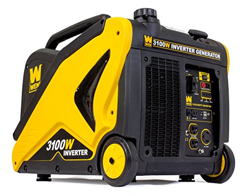 WEN 56310i CARB Compliant Inverter Generator with Built-in Wheels and Handle, 3100W