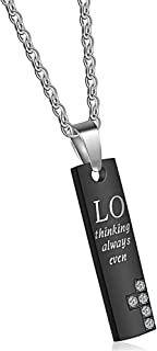 """Uloveido """"Thinking of You Always Love Friendship Couple 2 Pendant Necklaces for Girls Boys Birthday Valentine's Day Gift S..."""