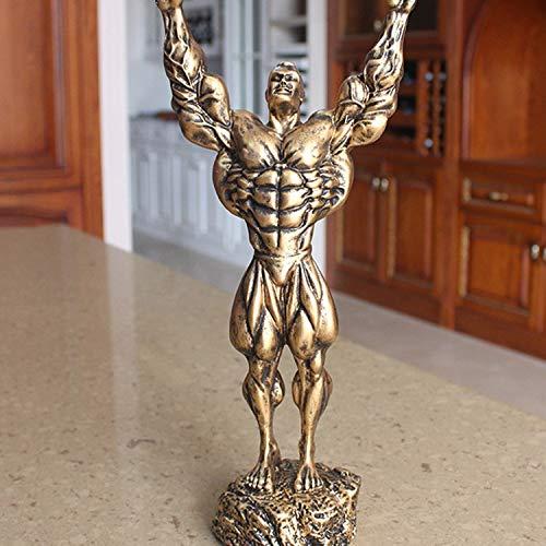 Willower Europäischer Bodybuilding-Muskel-Geschenk-Souvenir-Cup-Sport-Skulptur-Preis im Bodybuilding-Charakter-Wettbewerb, Bronze Hercules