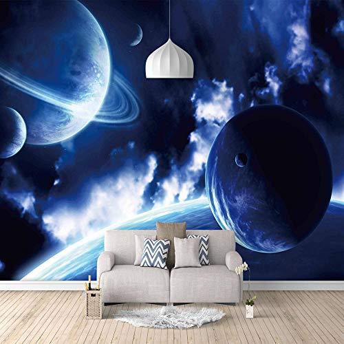 Mural Vinilo Decorativo Planeta Azul Papel Pintado Mural Fotomurales Murales Pared Papel Para Pared Foto 3D Mural Pared Barato Decorativo - 300 X 210 Cm