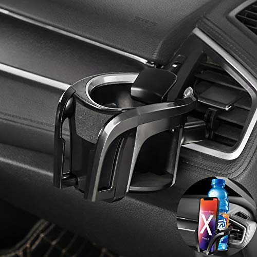 Soporte para bebidas para ventilación de coche, soporte para vasos, soporte para teléfono móvil, adecuado para botellas de 7,8 cm de diámetro, soporte para latas y bebidas para todos los teléfonos