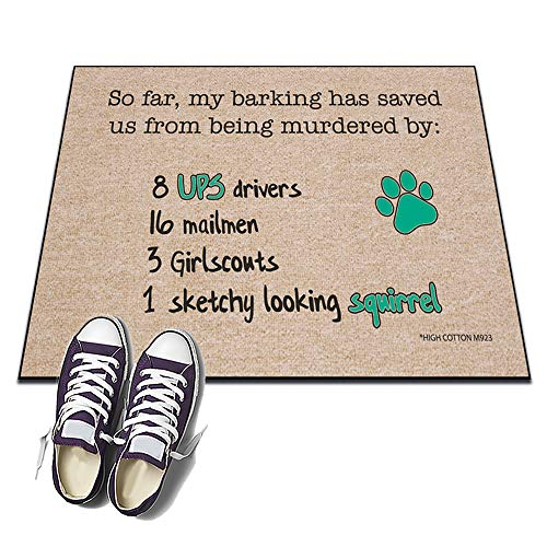 Dog UPS Driver - HIGH COTTON Welcome Doormat