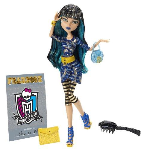 Mattel Monster High Y8500 - Cleo de Nile, Puppe mit Jahrbuch