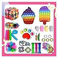 Fidget Pack、Sensory Fidget Toy、大理石のメッシュポップ不安チューブはストレス不安フィジットパックが子供大人のための安いストレスの不安フィジットパックを和らげます (Color : Fidget Packs-10)