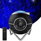 Hepside Proyector Estrellas, 360° Rotación Batería incorporada Proyector Galaxia con Temporizador Proyector Infantil y Control Remoto, 15 Modos Lampara Proyector Infantil para Dormitorio cine en casa