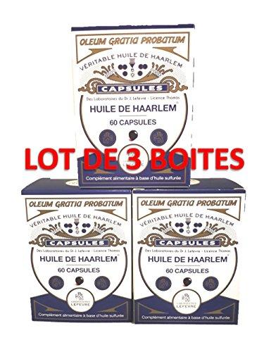 Set di 3 scatole di olio di albero.
