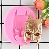 MJOEPR Batman Maske Gesicht Geformt 3D Fondant Silikonform Sugarcraft Seifenform DIY Handwerk Harz...