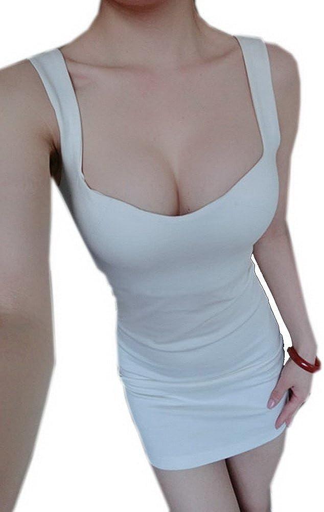 Black Temptation Sexy Bodycon for Women Sleeveless White Night Dress Medium