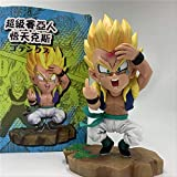 Yhwqhg Dragon Ball Z Gotenks Son Goten Trunks Action Figure Super Saiyan Divertente Cattivo Gusto Action PVC Figure DBZ Goku Son Model Toy 16 Cm