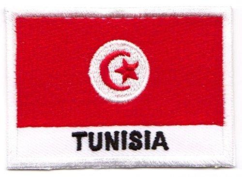 Aufnäher Iron on Patches Applikation Flagge Tunesien 7,1 x 4,9cm