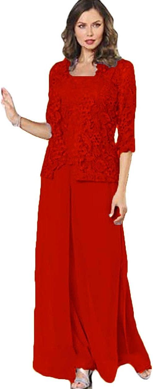 Xixi House Vintage Lace Mother of The Bride Dresses Pant Suits 2021 Plus Size Women Evening Guest Party Dress