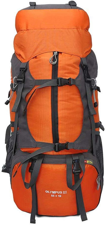 Ambiguity Outdoor Mountaineering Bag Men and Women Travel Double Shoulder Bag Large Capacity 60 Litre Waterproof Bag