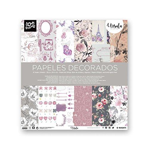 Busquets - Papeles Decorados Scrapbooking Ursula 30,5x30,5