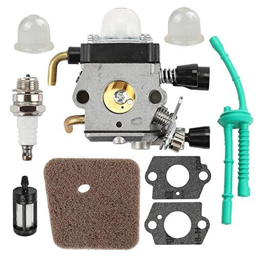 xingyu Carburador 1 juego de carburador Kit pieza de repuesto adecuada para Stihl FS38 FS45 FS46 FS55 KM55 FS85 Junta de filtro de combustible de aire (color: gris)