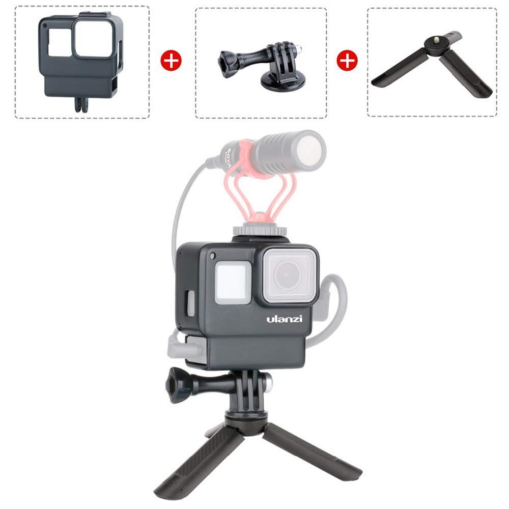 V2 - Carcasa Protectora para GoPro con Caja de Audio, Espacio para GoPro Hero 7 6 5
