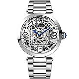 Benyar, orologio meccanico automatico da uomo, alla moda, casual, impermeabile, con cinturino in acciaio inox