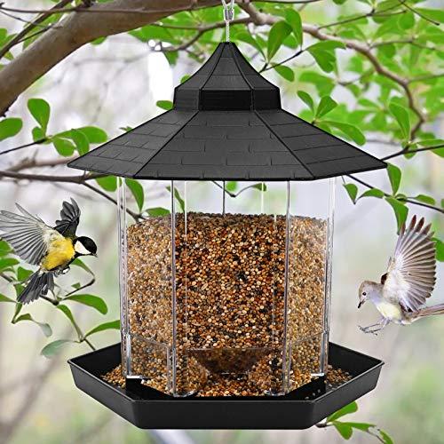 Hanging Wild Bird Feeder Gazebo Birdfeeder Outside Decoration, Perfect for Attracting Birds on...