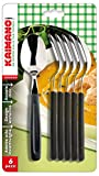 kaimano kdn760206n dinamik cucchiai, acciaio inossidabile, nero, 28x10x2 cm, 6 unità