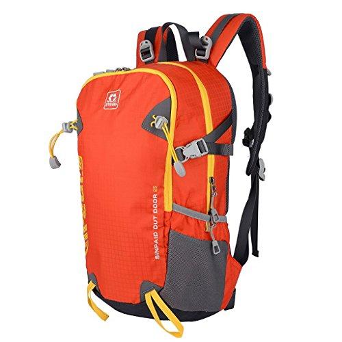 XSY 35L Mochilas Senderismo Mujer y Hombres Mochila Deportes Alpinismo Impermeable para Aire Libre Escalada Acampa Rojo