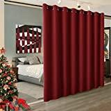 RYB HOME Light Block Curtain Divider Extra Wide Room Divider Curtain Separate Wall Shelves for Share Apartment for Nursery/Home Theatre/Storage/Studio/Office, W 15ft x L 8ft, 1 Panel