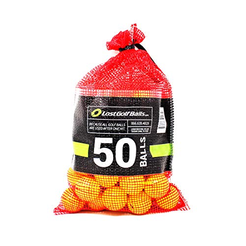 Yellow Premium Brand Golf Balls 50 Pack (50BKT-PLYL-3-COM), One Size