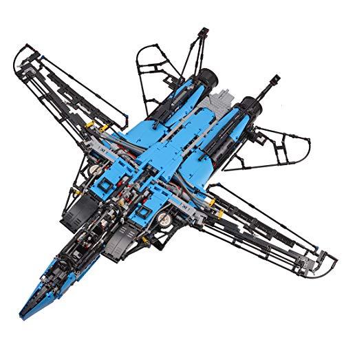 XIKI Juego de construcción de bloques de construcción F-14 Tomcat, 4000 piezas, con mando a distancia y motores, compatible con Lego Technic
