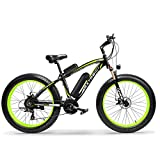 Extrbici XF660 500 W 48 V 10.4 Ah Bicicleta Eléctrica 26 'X4.0 Grasa Bicicleta Cruiser 7 velocidades Shimano derailluer Nieve beacn ebike de montaña Bicicleta Frenos de Disco hidráulico Apagado Doble