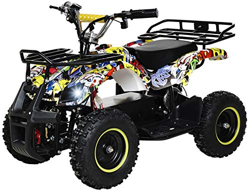 Actionbikes Motors - Miniquad eléctrico para niños ATV Torino 800 W 36 V – frenos de disco – Sistema de seguridad Touch Interruptor de pie