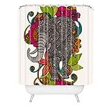 Deny Designs Valentina Ramos Ruby The Elephant Shower Curtain, 69 x 72
