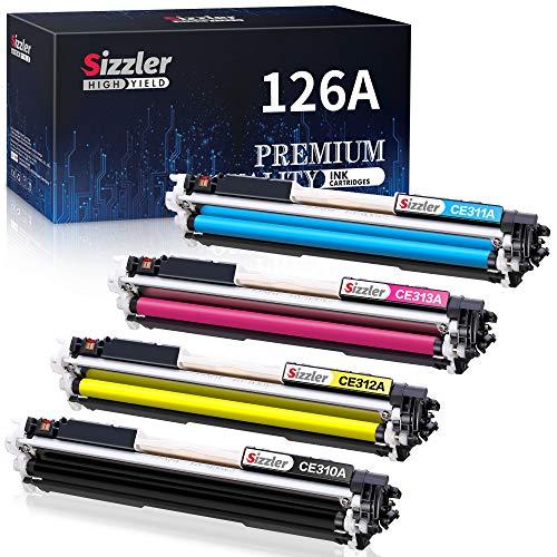 Sizzler Compatible HP 126A Cartuchos de tóner (CE310A CE311A CE312A CE313A) para HP LaserJet Pro CP1020 CP1025 CP1025nw 100 Color MFP M175 M175A M175nw TopShot M275 M275NW