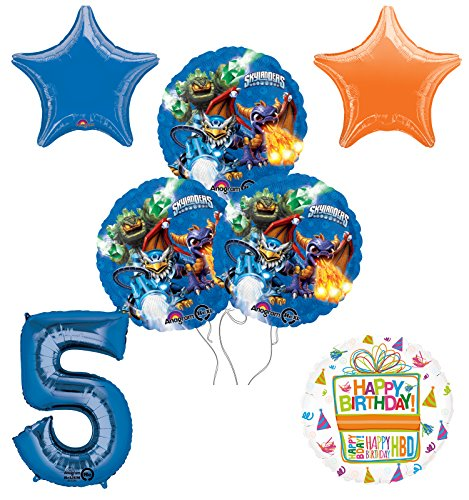 Skylanders 5th Birthday Party Supplies and Balloon Decoration Bouquet Kit