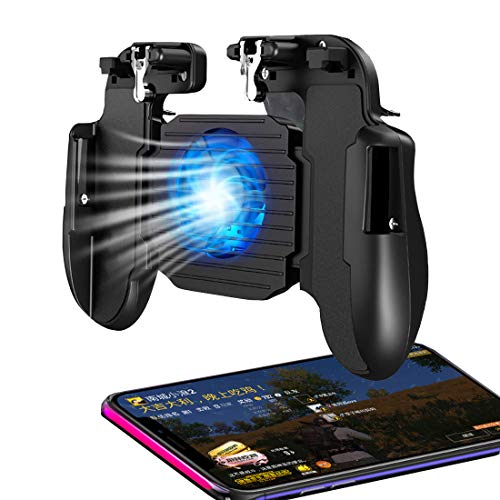 """PUBG Mobile Game Controller for Phone iOS,Android Gaming Controller Cooling Fan,Phone Gaming Trigger for Pubg Fortnite/Rules of Survival Gaming Joysticks for 4.7-6.5"""" Smartphones"""