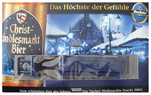 Tucher Nr.125 - Christkindlesmarkt Bier 2003 - 3 von 4 - 1-64 - Scania - Sattelzug mit Tankauflieger