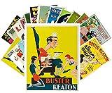 Postcard Pack 24pcs Buster Keaton and Harold Lloyd Vintage Silent Film Movie Posters