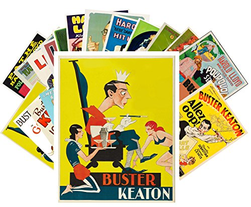 24 Postkarten Buster Keaton and Harold Lloyd Vintage Silent Film Movie Posters