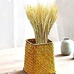 yuiop 100pcs artificial natural wheat dried, flower bunches arrangements diy home kitchen table wedding flower bouquet centerpieces decorative, 20-24 inch length