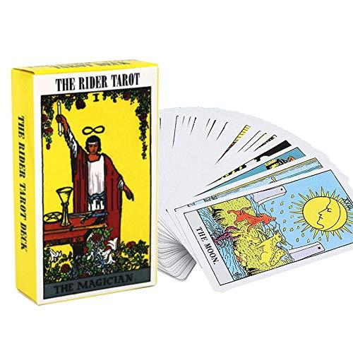 Versione Inglese Tarot Rider Waite Tarot Deck, Tarot Deck 78 Carte Carte di tarocchi e Set di Libri, Giochi da Tavolo per Feste di Famiglia con Istruzioni per la Carta dei volantini