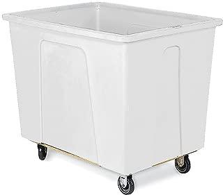 Wesco 272505 32 Gallons 4 Bushels Plastic Box Truck, Polyurethane Wheels, 350-lb. Load Capacity, 21-1/4
