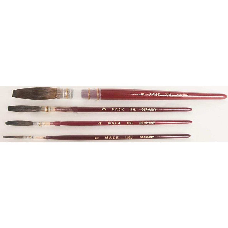 Mack Brush 179-9 #9 Brown Pencil Quill W/Plain Wood Handle