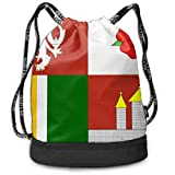 OKIJH Mochila Mochila de ocio Mochila con cordón Mochila multifuncional Bolsa de gimnasio Flag Of South Bohemia Men And Women General Backpack Multifunctional Bundle Backpack Fashion Travel Backpack L
