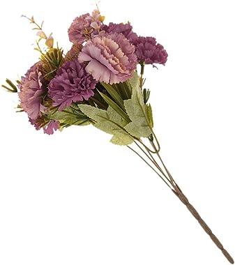 Kawn Realistic Stimulation Flower Bouquet Wedding Posy Table Arrangement Plant Home Office Decor Red