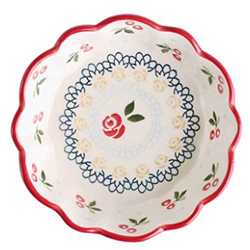 XUSHEN-HU Cerámica Ensaladera Bol Bol Casa Desayuno Soup Bowl Cubiertos Conjunto del Cuenco de Fruta Adultos Niños Tazón Cocina