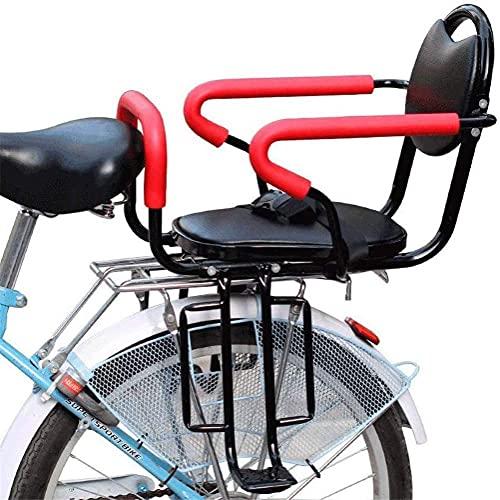 X&Y Asiento de Bicicleta para niños, Asiento Trasero de Bicicleta Desmontable, Soporte para niños con reposabrazos y Pedales Antideslizantes para un Asiento de bebé de 2 a 6 años de Edad