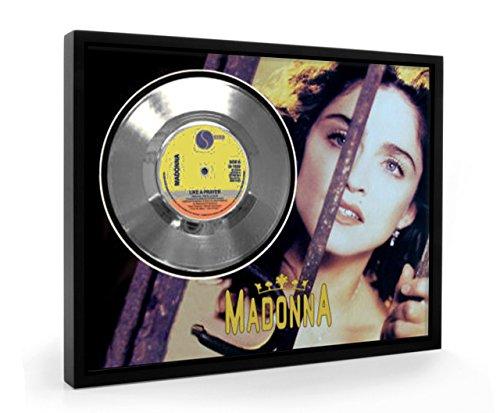 Madonna Like A Prayer Framed Disco d'argento Display Vinyl (C1)
