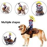 Kungfu Mall 1 STÜCK Hundekostüm Haustieranzug Cowboy Reiter Stil Pet Riding Transfiguration für...